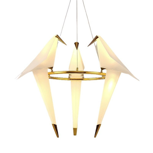 Replica Perch 3 Light White Gold Pendant Light