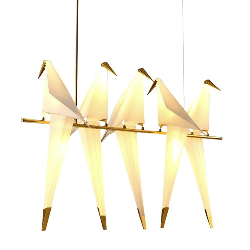 Replica Perch 5 Light White Gold Pendant Light