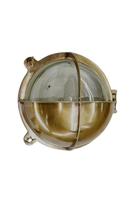 Salzburg Antique Brass Outdoor Wall Light