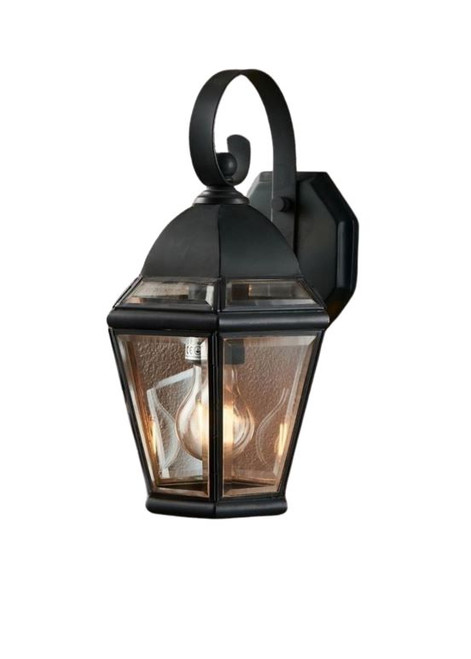 Henry Black Glass Outdoor Wall Light
