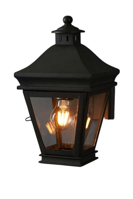 Pierino Black Glass Outdoor Wall Light