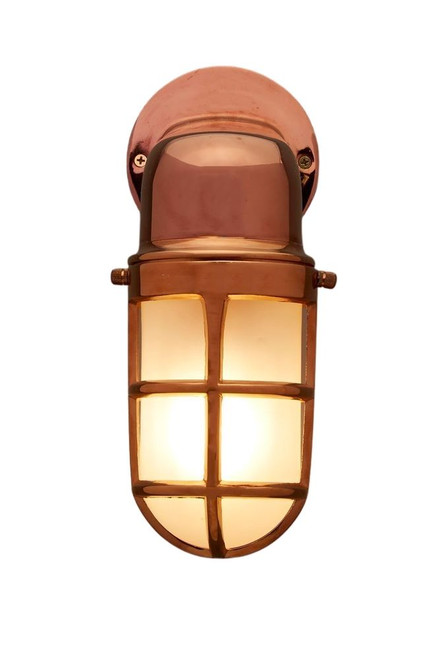 Benson Brass Glass Outdoor Wall Light