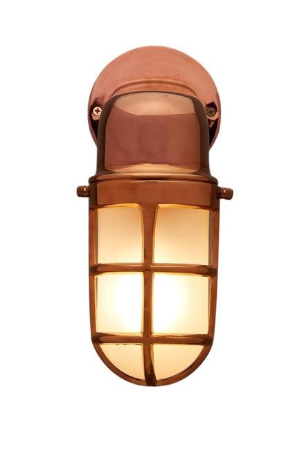 Benson Copper Glass Outdoor Wall Light