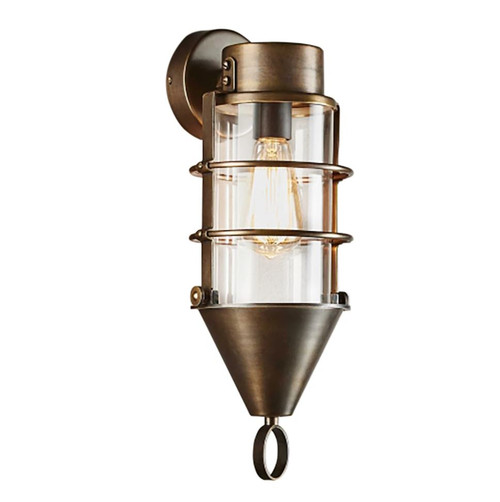 Pendleton Brass Glass Outdoor Wall Light