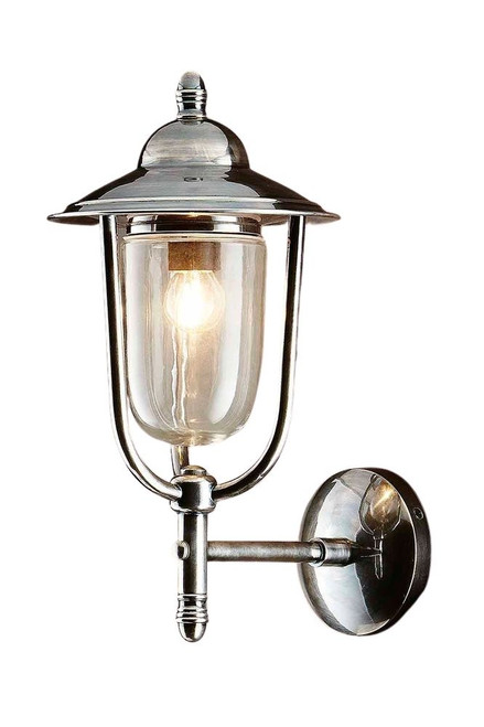 Pietro Antique Silver Outdoor Wall Light