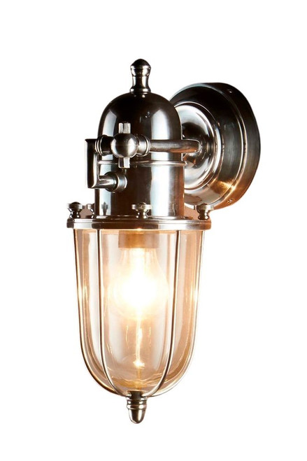 Cadwell Silver Glass Outdoor Wall Light