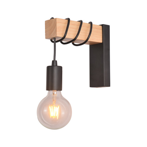 Tibery Metal Wood Indoor Wall Light