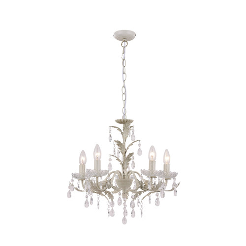 Michelle 5 Light Gold Traditional Candle Chandelier