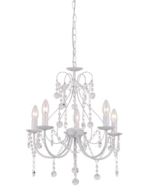 Renee Clear Crystal White Chandelier