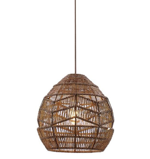 Tilda Woven Hemp Rope Pendant Light