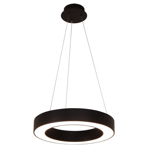 Curvor Black Ring LED Pendant Light - Small
