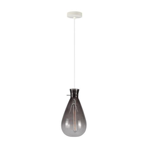 Orson Smokey Grey Glass Jar Pendant Light