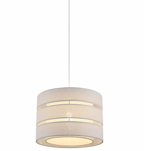 Trio Drum Pendant Light - White