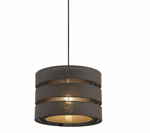 Trio Drum Pendant Light - Brown
