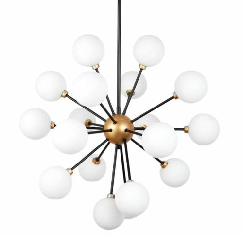 Maddox 18 Light Art Deco Opal Glass Pendant Chandelier