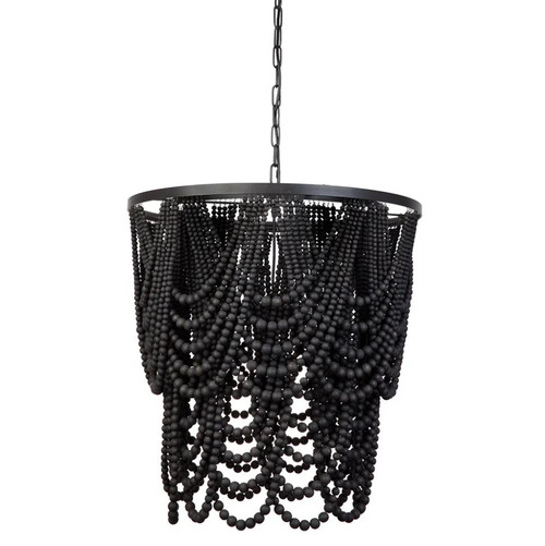 Bilgola Beaded Black Chandelier
