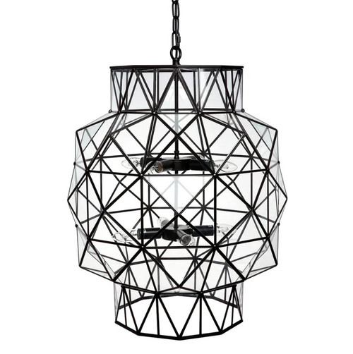 Downtown Black Clear Large Pendant Chandelier