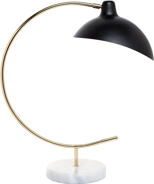 Seville Arc Black Gold Table Lamp