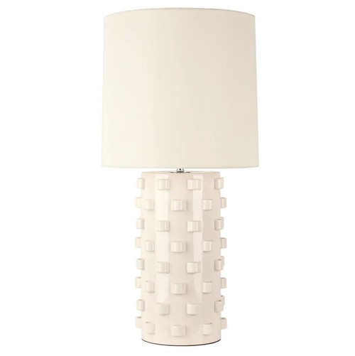 Smith White Ceramic Table Lamp