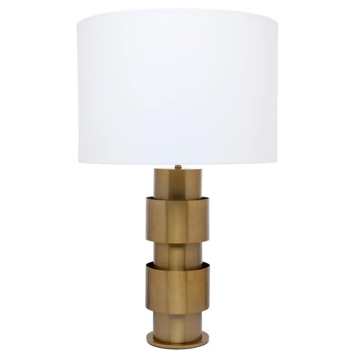 Burton Staggering Brass Ring Table Lamp