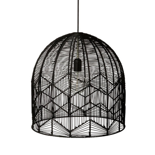 Alfie Bell Black Rattan Pendant Light