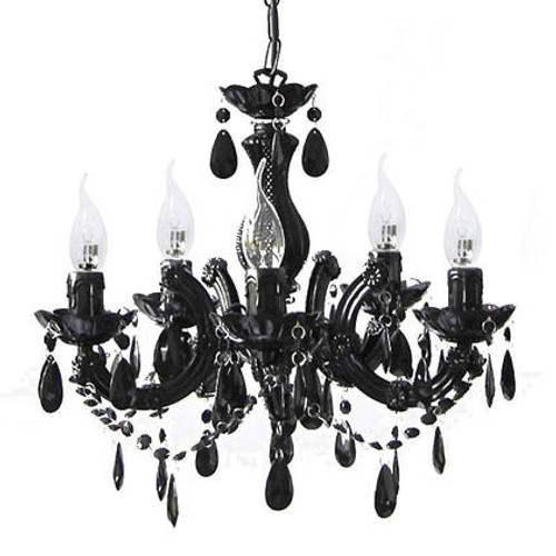 Grecia 5 Light Black Traditional Chandelier