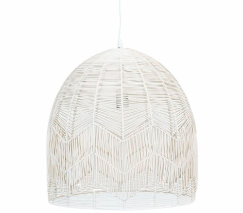 Alfie Bell White Rattan Pendant Light