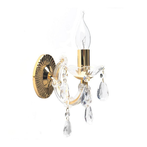 Grecia 1 Light Gold Traditional Wall Light