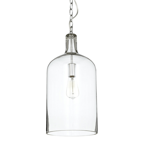 Kyndall Bell Chrome Glass Pendant Light