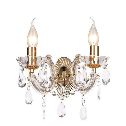 Grecia 2 Light Gold Traditional Wall Light