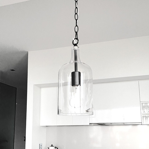 Kyndall Bell Black Glass Pendant Light