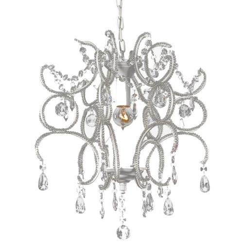 Jasmine White Crystal Chandelier