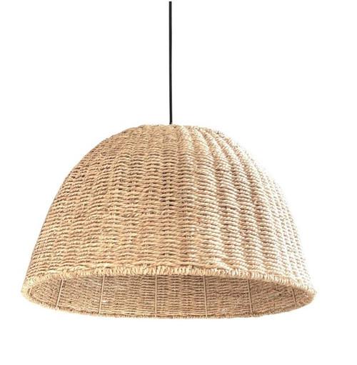 Avilla Dome Natural Rope Pendant Light