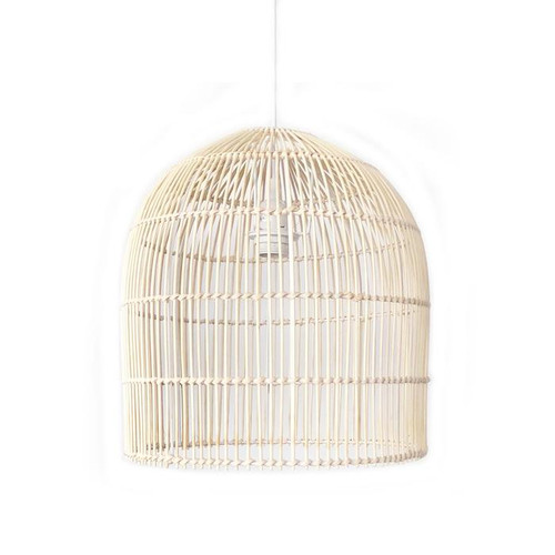 Venice Bell Natural Rattan Cane Pendant Light