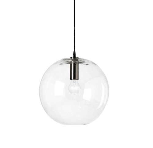Adriana Round Chrome Glass Pendant Light