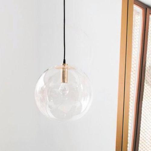 Adriana Round Gold Glass Pendant Light
