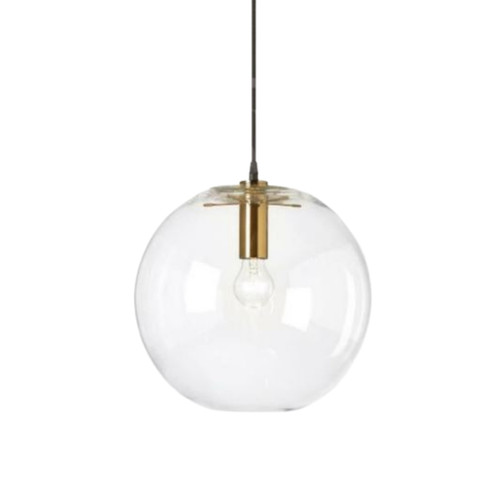 Adriana Round Gold Glass Pendant Light
