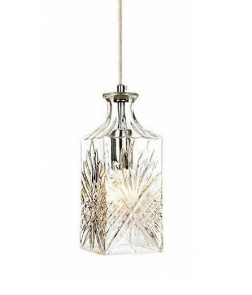 Scotch Wine Decanter Glass Pendant Light