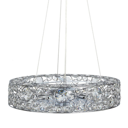 Manor Ring Light Chrome Crystal Pendant Chandelier