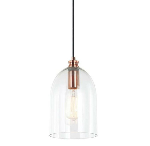Zillow Bell Copper Glass Pendant Light