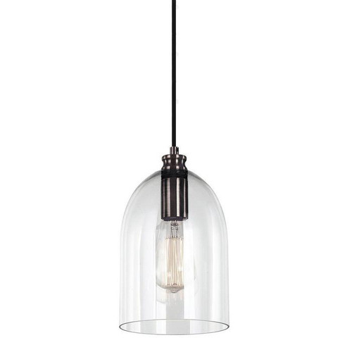 Zillow Bell Black Glass Pendant Light