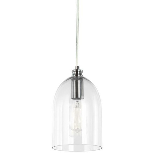 Zillow Bell Light Chrome Glass Pendant Light