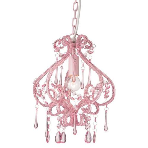 Daniella Pink Crystal Pendant Chandelier