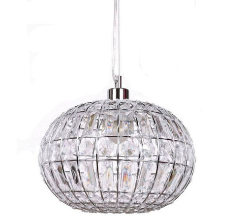 Hailey Round Chrome Acrylic Pendant Light