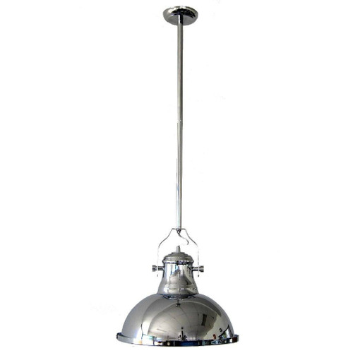 Melani Dome Chrome Metal Pendant Light