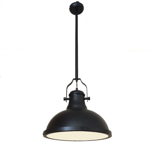 Melani Dome Black Metal Pendant Light