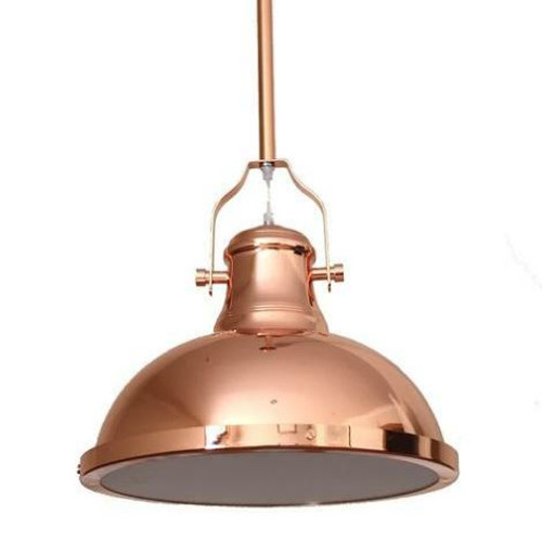 Melani Dome Copper Metal Pendant Light