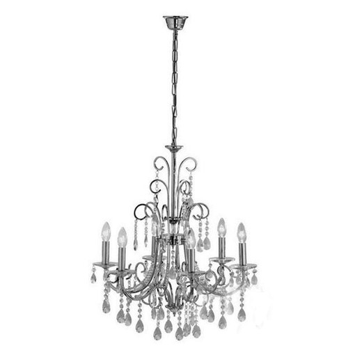 Scarlett 6 Light Chrome Cystal Chandelier