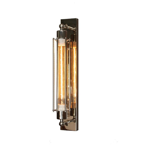 Jeremy Narrow Base Chrome Wall Light