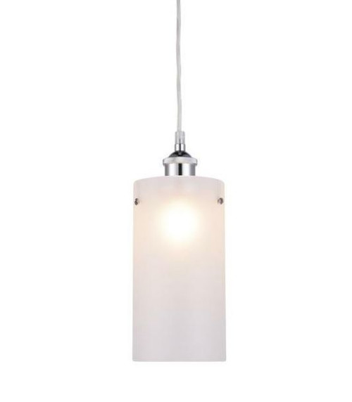 Amira Cylinder Chrome Glass Pendant Light